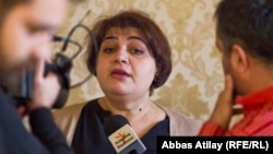 RFE/RL Journalist Khadija Ismayilova in Baku, 18 February 2014