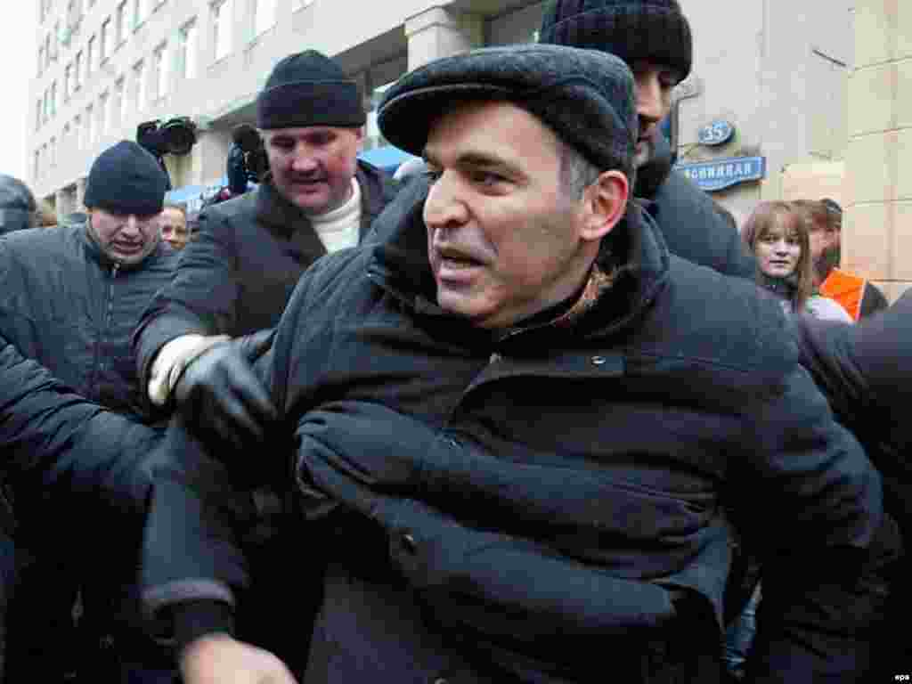 Other Russia leader Garry Kasparov was among those detained in Moscow on November 24; he was given five days in jail for organizing the rally and resisting arrest - A recent RFE/RL poll suggested that nearly two-thirds of voting-age Russians do not think December's Duma elections will be conducted honestly, while fewer than one in five thinks the results will reflect the true will of the electorate