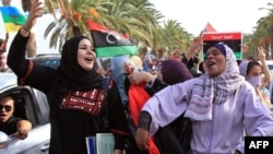 Libianët duke festuar...