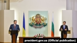 Президент Украины Петр Порошенко и президент Болгарии Росен Плевнелиев