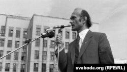 Зянон Пазьняк, жнівень 1991 году.