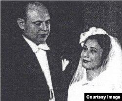 H. Cahan la căsătoria sa în 1942 la București