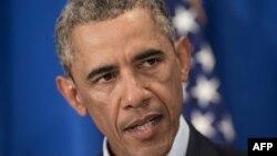 """Президент США Барак Обама: группировке """"Исламское государство"""" нет места в 21-м веке (Вашингтон, 20 августа 2014 года)"""