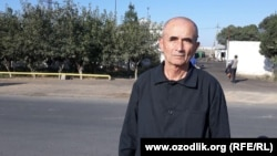 Uzbek Opposition activist Agzam Turgunov upon his release from prison on October 7. (file photo)