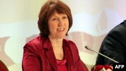 Кэтрин Эштон, ЕО сыртқы істер бойынша жоғары өкілі. Алматы, 27 ақпан 2013 жыл
