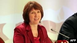 Kazakitstan: Shefja për politikë të jashtme të BE-së Catherine Ashton, në konferencë për media pas përfundimit të takimit në Almaty