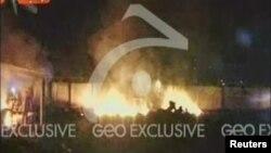 Bin Ladenin qaldığı evə hücum edərkən vertolyotlardan biri qəzaya uğrayıb partlamışdı, Abbotabad, Pakistan