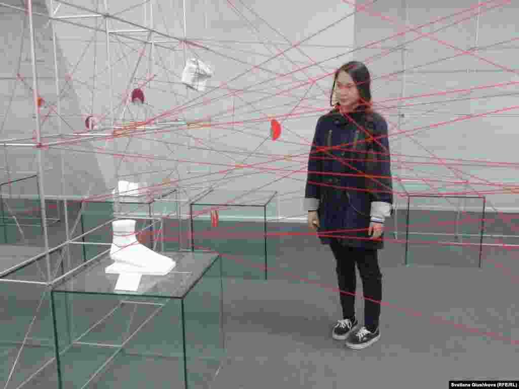 Made in Astana көрмесіндегі тағы бір инсталляция.