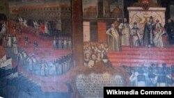 Венчание царя Димитрия и Марины Мнишек в Москве 8 мая 1606 года. Неизвестный художник