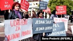 Protestna šetnja povodom Međunarodnog dana žena u Podgorici, Crna Gora, 08. mart 2018.