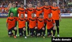 "Карагандинская футбольная команда ""Шахтер""."