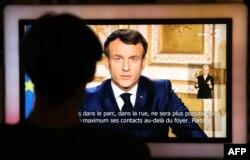 Телевізійне звернення президента Франції Макрона щодо оголошення карантину через епідемію коронавірусу. 16 березня 2020 року