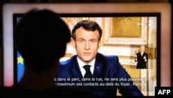 Президент Франції Емманюель Макрон виступає зі зверенням до нації, 16 березня 2020 року