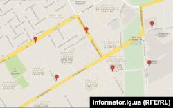 Карта, де працює мобільний зв'язок (informator.lg.ua)