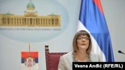 Predsjednica Skupštine Srbije Maja Gojković