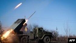 Спільні російсько-сепаратистські сили стріляють із «Градів» із території міста Горлівки вже не вперше, архівне фото