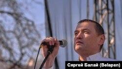 Алесь Ліпай на «Сьвяце незалежнасьці»ў Менску, 25 сакавіка 2018 году