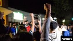 Студенты университета Калифорнии протестуют