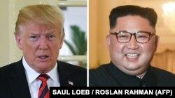 Presidenti i SHBA-së, Donald Trump dhe udhëheqësi i Koresë Veriore, Kim Jon UN