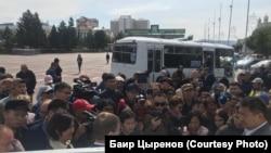 Участники протестов в Улан-Удэ, 9 сентября 2019 г.
