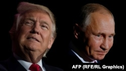 A combo photo of U.S. President Donald Trump (left) and Russian President Vladimir Putin