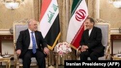 Իրանի փոխնախագահ Էսհաղ Ջահանգիրի և Իրաքի վարչապետ Հայդեր ալ-Աբադի, Թեհրան, 26-ը հոկտեմբերի, 2017թ.