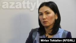 """Баш прокурор Аида Салянова """"Азаттыктын"""" студиясында, Бишкек, 22-май, 2012."""