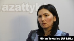 "Генпрокурор Аида Салянова в бишкекской студии Радио ""Азаттык"", 22 мая 2012 года."