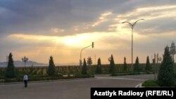 Участник форума в Авазе был удивлён пустынными улицами, где были только сотрудники полиции. Фото предоставлено собеседником Азатлыка