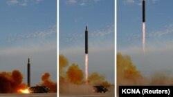Հյուսիսային Կորեան փորձարկում է Hwasong-12 տեսակի միջմայրացամաքային հրթիռներ, 16-ը սեպտեմբերի, 2017 թ.