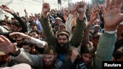 Протесты против Charlie Hebdo в пакистанском городе Пешавар