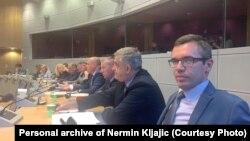 Ministar Nermin Kljajić (prvi zdesna) na sastanku u Briselu