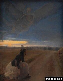 Лаўрыц Андэрсэн Рынг, «Вечар. Старая жанчына і сьмерць» (1887)