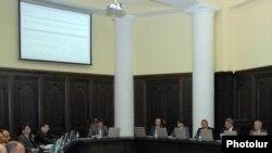 Armenia -- A cabinet meeting in Yerevan.