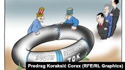 Caricatură de Predrag Koraksic Corax.