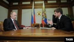 Rusiye prezidenti Vladimir Putin ve Çeçenistan yolbaşçısı Ramzan Kadırov