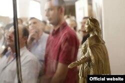 Центральным экспонатом выставки является статуя Екатерины ІІ