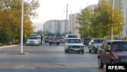 The scene in downtown Ashgabat
