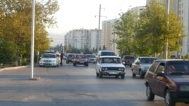 The scene in downtown Ashgabat