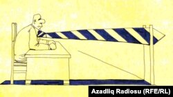 Rəşid Şerifin karikaturası – Blok-post