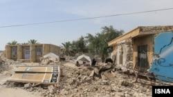 Earthquake damage in Iran's Hormozgan Province