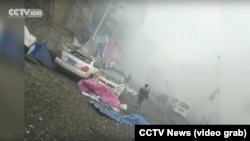 تصاویری که شبکه خبری سیسیتیوی پخش کرده منطقه نسبتا بزرگی را نشان میدهد که در پی این از انفجار آسیب دیدهاست