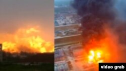 "Взрыв на химзаводе ""Цзянсу Тяньцзяи"" в промпарке ""Чэньцзяган"" в городе Яньчэн в Китае"
