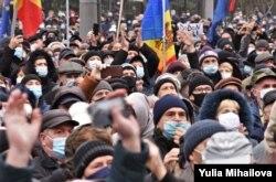 Нааразылык акция. Кишинев шаары, 2020-жыл.