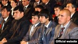 Tajikistan,Dushanbe city,Tajik sportsman during meeting with tajik president,24Dec2010