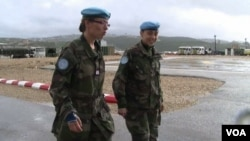 Lebanon - UN peacekeepers patrol Lebanon's border with Israel.