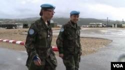 Lebanon - UN peacekeepers patrol Lebanon's border with Israel.