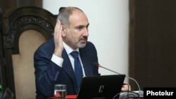 Armenia -- Prime Minister Nikol Pashinian holds a cabinet meeting in Yerevan, February 20, 2020.
