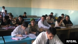 Turkmen students study at Tajik State University. (file photo)