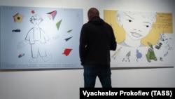 """Работа художника Павла Пепперштейна из проекта """"Святая политика"""", 2014 год"""